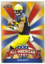 2017 Leaf Draft Football All-American Gold #AA-11 Jake Butt