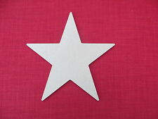 LARGE WOOD / WOODEN UNPAINTED MDF STAR BLANK
