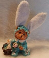 """Bear Dressed Up As Bunny Rabbit With Basket And Bunny 5"""""""