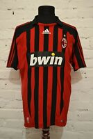 VINTAGE MILAN 2007/2008 HOME SOCCER FOOTBALL SHIRT JERSEY MAGLIA CALCIO MENS L