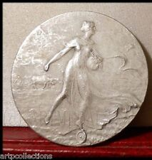 1910 MEDAILLE BRONZE ART NOUVEAU CHIMIE CHEMISTRY CHILI NITRATE SOUDE