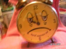 VINTAGE sad face 1960's/70's Lux Alarm Clock used condition