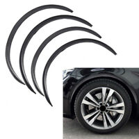 "4Pcs 28.3"" Carbon Fiber Car Wheel Eyebrow Arch Trim Lips Fender Flares Protector"