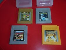 !!!  LOT 4 JEUX NINTENDO GAME BOY : POKEMON OR / ARGENT / JAUNE +  ROAD RASH !!!
