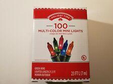 100 Multi-Color Mini Lights Holiday Time Christmas Miniature 23ft