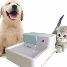 Pet Dog Cat Dish Fountain Running Water Auto Electric Drinking Bowl w/ LED Light