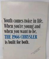 Chrysler 1966 Car Dealer Sales Brochure Vintage Original 18-1254