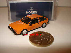 NOREV VOLKSWAGEN VW SIROCCO II 1980 ORANGE au 1/87° échelle HO