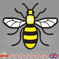 Mancunian Bee Sticker, Manchester bee Proud to be Mancunian Car Stickers a44