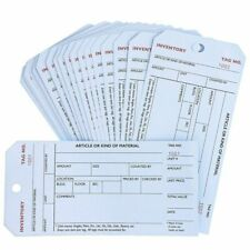 Juvale 500-Pack Bulk Stub Style Inventory Tags, White Manila Paper, 6 x 3 Inches