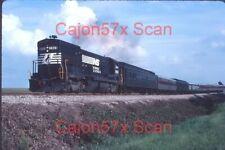 Original slide- NS U23B #3969 & Passenger Special At Barnesville,GA.