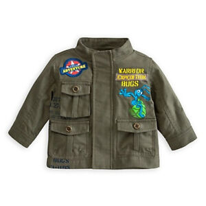 Disney A Bug's Life Flik the Ant Army Green Size 0-6 or 6-12 Months Boy's Jacket