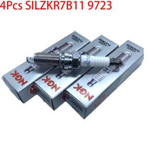 4X SILZKR7B11 9723 Spark Plug for Hyundai Elantra Santa Fe Kia Forte 18846-11070