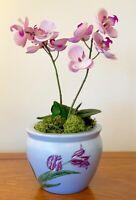 VINTAGE CHINESE PORCELAIN PLANT POT ORIENTAL PLANTER  5 INS TALL