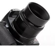 Universal 52mm Standard Metal Lens Hood Screw In for 52mm Filter Thread Lens