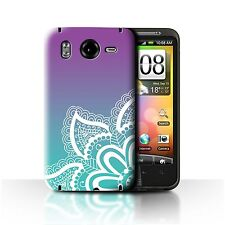 STUFF4 Case/Cover for HTC Desire HD/G10/Ombre Pattern/White Henna Tattoo