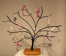 Longaberger Collectors Club Wrought Iron Tree With 16 Breast Cancer Ornaments