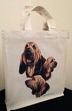 Bloodhound Natural Cotton Small Fun Party Bag Tote with Gusset Useful Gift