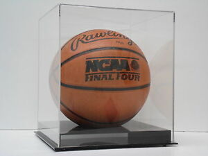 Basketball display case acrylic solid black base NBA NCAA 85% UV filtering