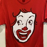 Ronald Is You McDonald's Red Tshirt Short Sleeve Size Medium Large Graphic Print