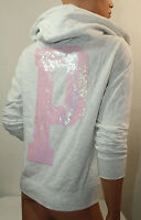 NEW Pink By Victoria's Secret Sweatshirt Hoodie Jacket Bling Gray Small  NWT