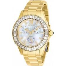 Invicta Women's Watch Angel White MOP Dial Yellow Gold Bracelet 28452