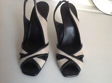 Principles ladies shoes very classy size 3 / 36 black and hessian sling back