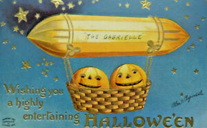 1910 Jack O'Lantern The Gabrielle  Ellen CLAPSADDLE HALLOWEEN Postcard (A2)