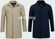Mens Tokyo Laundry Mac Coat Trench Button Up Smart Collar Shower Resistant S-XL
