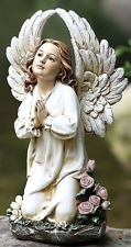 Angel Garden Statue Kneeling Sculpture Praying Outdoor Decor Patio Lawn Yard