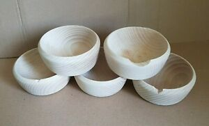 """Imperfect Small Wooden Bowl Rise Honey 4"""" 10cm Plain Price Reduced"""