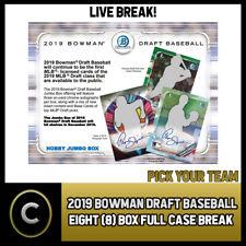 2019 BOWMAN DRAFT бейсбол 8 коробка (полный чехол) перерыв #A659 — выбирайте свою команду