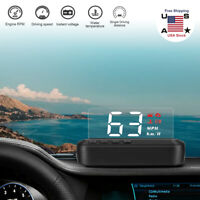 C100-HUD Car Head Up Display OBD2 Speedometer Warning System Dashboard Projector