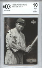 BABE RUTH New York Yankees 1999 Upper Deck Black Diamond BGS BCCG 10 MINT!!