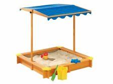 Playtive Sandkasten mit Dach UV50 Holz Plane Sandkiste Sandbox Buddelkiste