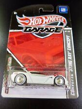 Hot Wheels Garage Corvette Sting Ray Concept White