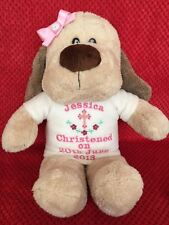 PERSONALISED CHRISTENING BAPTISED HOLY COMMUNION DOGGY DOG BEAR GIFT