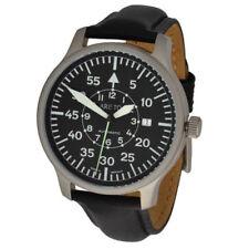 Relojes de pulsera unisex de acero inoxidable de cuero