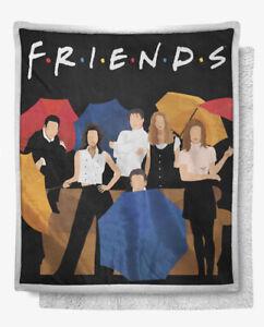 Friends Tv Show Sherpa throw Blanket