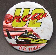 1993 T-PLUS U2 CREW U.S. TOUR pinback button Hydroplane Racing z