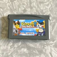 Klonoa 2 Dream Champ AUTHENTIC Nintendo Gameboy Advance Cleaned & TESTED GBA