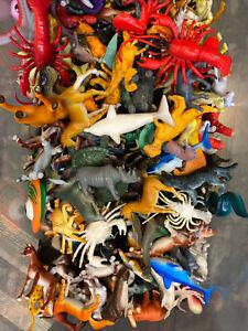 Lot of 200+ Safari Miniature Toys Wild & Farm Animals,Dinosaurs,Ocean Animals