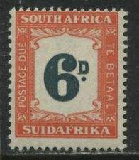 South Africa 1949 Postage Due 6d mint o.g.