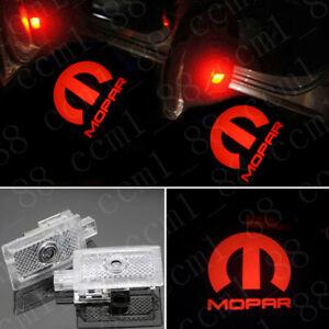LED Door Lights Projector Red MOPAR Logo Emblem HD For Chrysler 200 300 Sebring