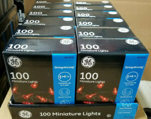 12 X GE String-A-Long 100-Count 20.6-ft Red Incandescent Christmas String Light