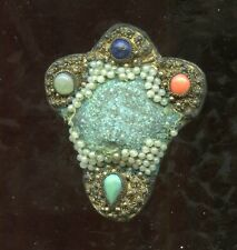 Jewelry Brooch Stone China Ct412 Vintage Victorian Buckle Doll Fashion