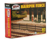 ATLAS 774 HO Scale Hairpin Fence Sections Black Plastic Model Railroad FREE SHIP