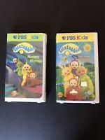 2 PBS TELETUBBIES VHS Videos (G)