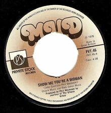 """MUD Show Me Your A Woman 7"""" Single Vinyl Record Private Stock 1975 EX"""