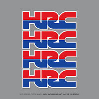 4 x HONDA HRC Stickers Decals - Honda Racing Corporation - 150mm x 51mm - 2357